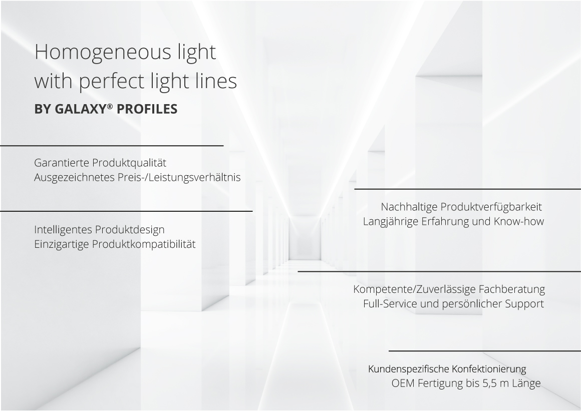Homogeneous light with perfect light lines